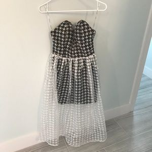Rare London limited edition sweetheart midi dress